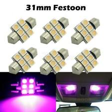 6 x Car Dome 5050 SMD LED Bulb Light Interior Festoon led 31mm Purple