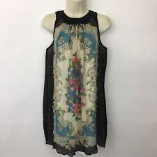 Moulinette Soeurs Anthropologie Silk Dress size 2 Varese Mini sleeveless tunic
