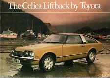 Toyota Celica Liftback 1979-80 UK Market Sales Brochure 2000 ST XT GT