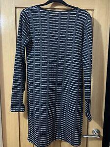 Hedonia  Black Silver V Back Bodycon Dress Size 14