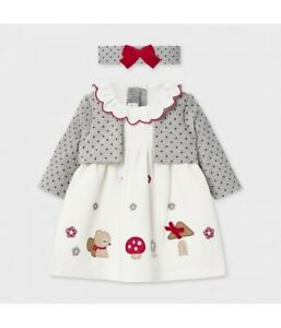 New Mayoral Baby Girls Dress With Hairband , Age Newborn, (2851)