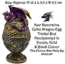 💙 Collection Dragon Oeuf Bijou Boîte à Bijoux Ornement Figurine Figure celtique