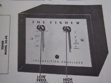 FISHER 50-PR PREAMPLIFIER EQUALIZER PHOTOFACT