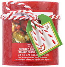Luminessence Christmas Holiday ~Deck The Halls~ Scented Pillar Candle