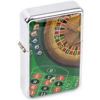 Casino Flip Top Metal Pocket Lighter, Refillable Windproof