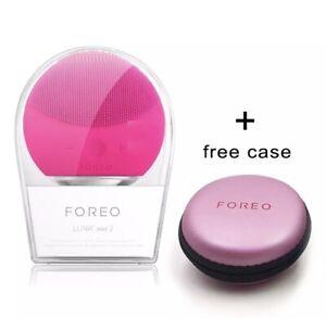 Foreo Luna Mini 2 - Fuchsia Facial Cleaning Brush+ Free Case