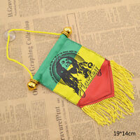Ragga Star Bob Marley Small Flag Cloth Poster Tapestry Wall Room Decor 19x14cm