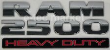(1) NEW DODGE RAM 2500 HEAVY DUTY CHROME 3M LOGO EMBLEM LETTERS NAMEPLATE BADGE