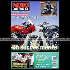 MOTO JOURNAL 1262 MATTHIEU LAGRIVE, SUZUKI GSF 1200 BANDIT, YAMAHA DT 230 1997
