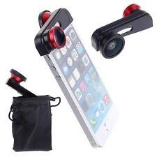 3 in 1 Fisheye + Macro + Wide Angle Camera Photo Zoom Lens w/ Case For iPhone 5S