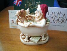 Harmony Kingdom Holy Water 2002 Santa & Reindeer in Bath Tub Uk Made