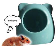 2x Hamster nest cool house ceramic  blue orange green