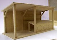 1:12 Maßstab Breit Flache Packung MDF Holz Markt Stand Set Tumdee Puppenhaus