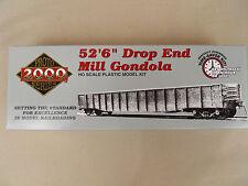 "HO PROTO 2000 SLSF #61657 52'6"" DROP END MILL GONDOLA KIT"