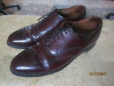 Men's Bostonian burgundy wingtip shoes EUC size 12 Medium