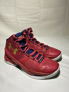 Under Armour UA Steph Curry 2 Floor General Red, Blue, & Gold 1259007-601 Sz 10