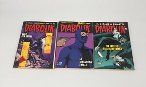 Lot of 3 DIABOLIK Italian Comic Books IL GIALLO A FUETTI - Sold AS-IS / See Pics