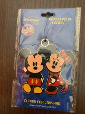 Disney Pins lanyard Charm - Bonjour Pour Lanière Pin - Mickey Et Minnie Mouse