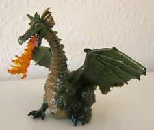 TOY PAPO ELC MEDIEVAL FANTASY GREEN WINGED DRAGON SOLID PLASTIC TOY FIGURE