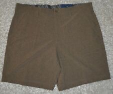 New Mens Croft & Barrow Outdoor Hiking Shorts 40 Brown Lightweight Wicking NWT