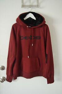 $94 New Bebe Sport Hoodies Sweatshirt Tunic Embroidered Burgundy Plus Size 1X