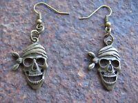 Totenkopf Ohrhänger Piratenschmuck Ohrringe Skull Pirat neu Anhänger Damen