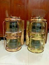 vintage nautical marine ship brass electric japanes transparent full round light