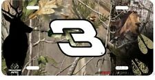 Dale Earnhardt Sr #3 Camo Realtree Metal License Plate Tag Nascar Racing