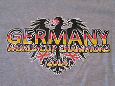Germany World Cup Champions Soccer 2014 S/S Gray T Shirt Size L