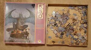 Vintage 100% complete 550 pc jigsaw puzzle Conquest Ken Parkinson fantasy DRAGON