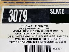 Alpha Wire 3079 #14awg Tinned Copper Hook Up Wire 600V 105C MTW TEW SLATE /50ft