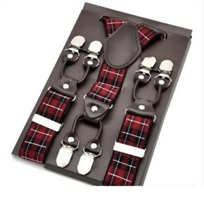 High Quality Man's Suspenders Elastic Y-Back Shape Clips-on Business Accessories