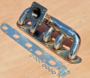 Hummer H3 Custom Turbo Manifold T3 T4 Flanged Stainless H3T 5 Cylinder 3.5 3.7