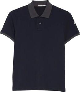 Moncler Maglia Polo Navy Blue Men's Size M