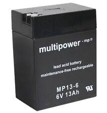 Blei-Gel Akku Multipower MP13-6 Bleiakku AGM Vlies 6V 13Ah Accu Batterie MP136