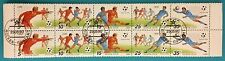 Russia (USSR ) 1990 CTO(FD)  Block of 10 MNHOG stamps football ITALY-90