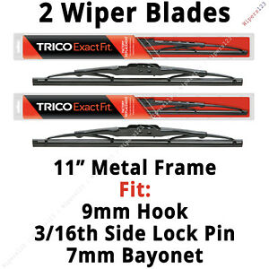 """Qty 2 Trico Exact Fit 11"""" Wiper Blades fit Listed Vehicles Left & Right 11-1 x2"""