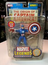 Marvel Legends Captain America Series I Action Figure with Comic Book