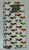 Dachshund Dog Kitchen Towels Bewitched Home NWT NEW Halloween