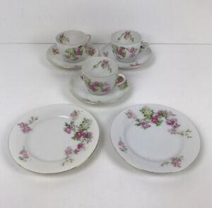 Victoria czecho slovakia vintage bone china tea set pink roses afternoon tea