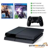 Sony Playstation 4 PS4 500GB schwarz+Controller+Battlefield 1+A Realm Reborn