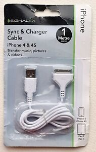 1 m Signalex Sync & Charge Cable for iPhone 4, 4s, iPad 2, iPad3  New Transfer