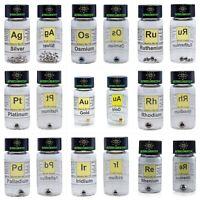 Osmium Ruthenium Platinum Gold Rhodium Palladium Iridium Silver Rhenium Metal