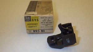 ALLEN BRADLEY 895-B1 AUXILIARY CONTACT 1NC 30/60 AMP SIZE 1 NIB