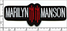 "20 Pcs Embroidered Iron on patches Marilyn Manson Music Band 5.3""x1.9"" AP056jA"