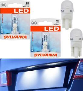 Sylvania LED Light 194 T10 White 6000K Two Bulbs License Plate Tag Upgrade Lamp