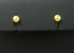 Ohrringe earrings 333 GOLD 8K Gelbgold Ohrstecker Goldohrstecker Kugel Kügelchen