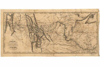 Lewis and Clark's Track Across the West; Antique Map; 1814