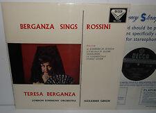SXL 2132 Teresa Berganza Sings Rossini London Symphony Orchestra Gibson  ED1 WBG