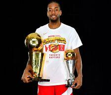 Kawhi Leonard Toronto Raptors Championship MVP Trophy 8x10 Photo